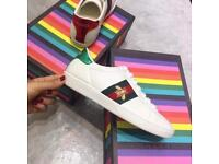 Gucci Aces Bee White Green Red Trainers all sizes available