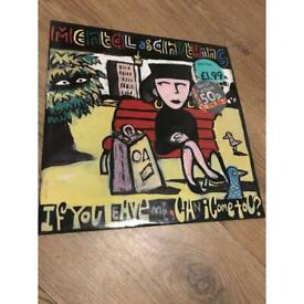 """Mental as anything if you leave me single 12"""" vinyl"""