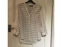 White Shirt with Black Stripes