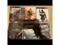 6 x Call of Duty Games PS3