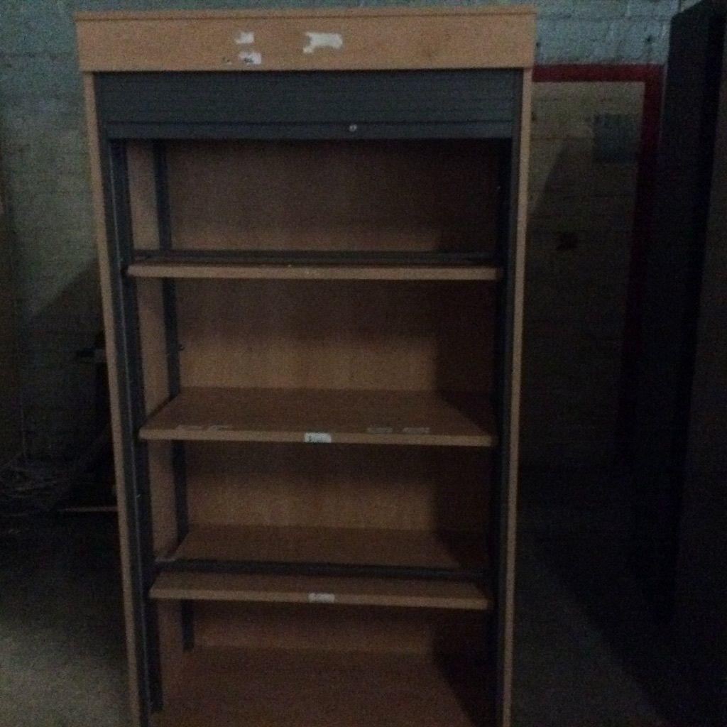 Oak Sliding Door Storage Cupboard