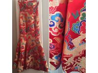 Chinese style evening dress-new, was £60, perfect for formal parties