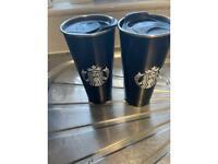 2 Starbucks cups thermos
