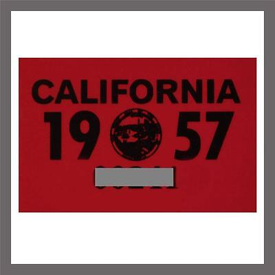 1957 California Yom Dmv Motorcycle License Plate Sticker   Tag Ca   1956 Plate