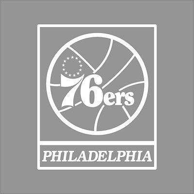 Philadelphia 76ers Logo Wall - Philadelphia 76ers NBA Team Logo 1Color Vinyl Decal Sticker Car Window Wall