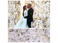 Wedding Flower Wall Backdrop Hire only £249 10ft x 10ft FREE LONDON DELIVERY AND COLLECTION