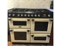 CANNON electric/gas RANGE COOKER - cream enamel