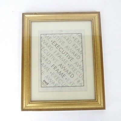 Vintage New In Plastic Gold Executive Award Document Frame 8.5x11 Certificate Award Plastic Certificate Frame