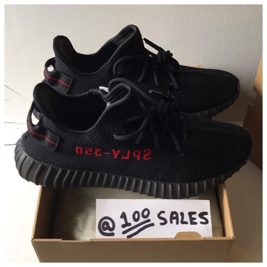 4fb01aa2b6ebf Adidas X Kanye West Yeezy Boost 350 V2 Black Red UK10 US10.5 EU44 2 ...