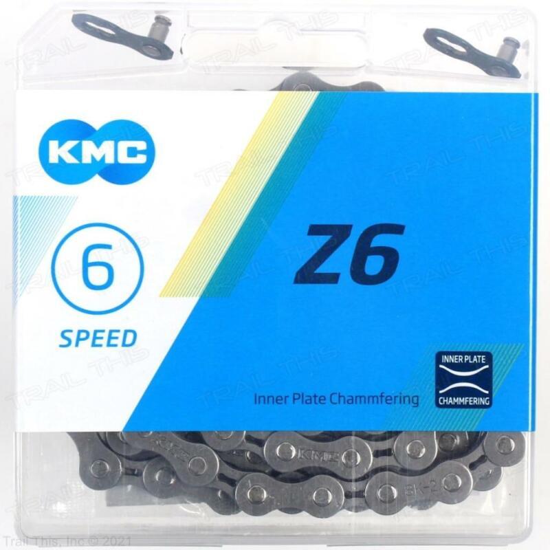 """KMC Z6 6/7-Speed MTB / Road Bike Chain 116L 3/32"""" fits Shimano / SRAM"""