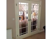 2 sets of internal double French doors