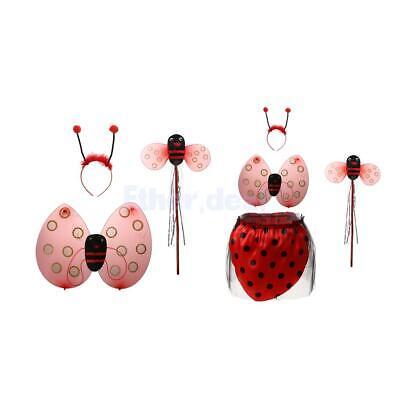 Marienkäfer Ladybird Kinder kostüm Zauberstab Stirnband Rock Halloween - Marienkäfer Kostüm Stirnband