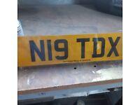 Number Plate N19 TDX