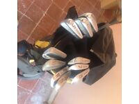 Golf clubs(10) in Bag with stand