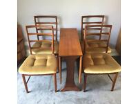 G Plan Fresco Double Drop Leaf Dining Table & 4 Chairs by McIntosh