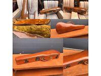 Beautiful Mahogany violin case (with internal lining)