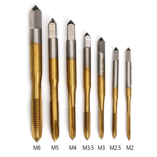 Купить M2/M2.5/M3/M3.5/M4/M5/M6 HSS Metric Straight Flute Thread Screw Tap Plug Tap