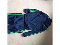 Junior Adidas dark blue tracksuit