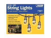 Feit 48ft Indoor/Outdoor Weatherproof String Lights Set + 36 Bulbs