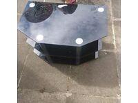 Black Glass TV Stand from Dartford