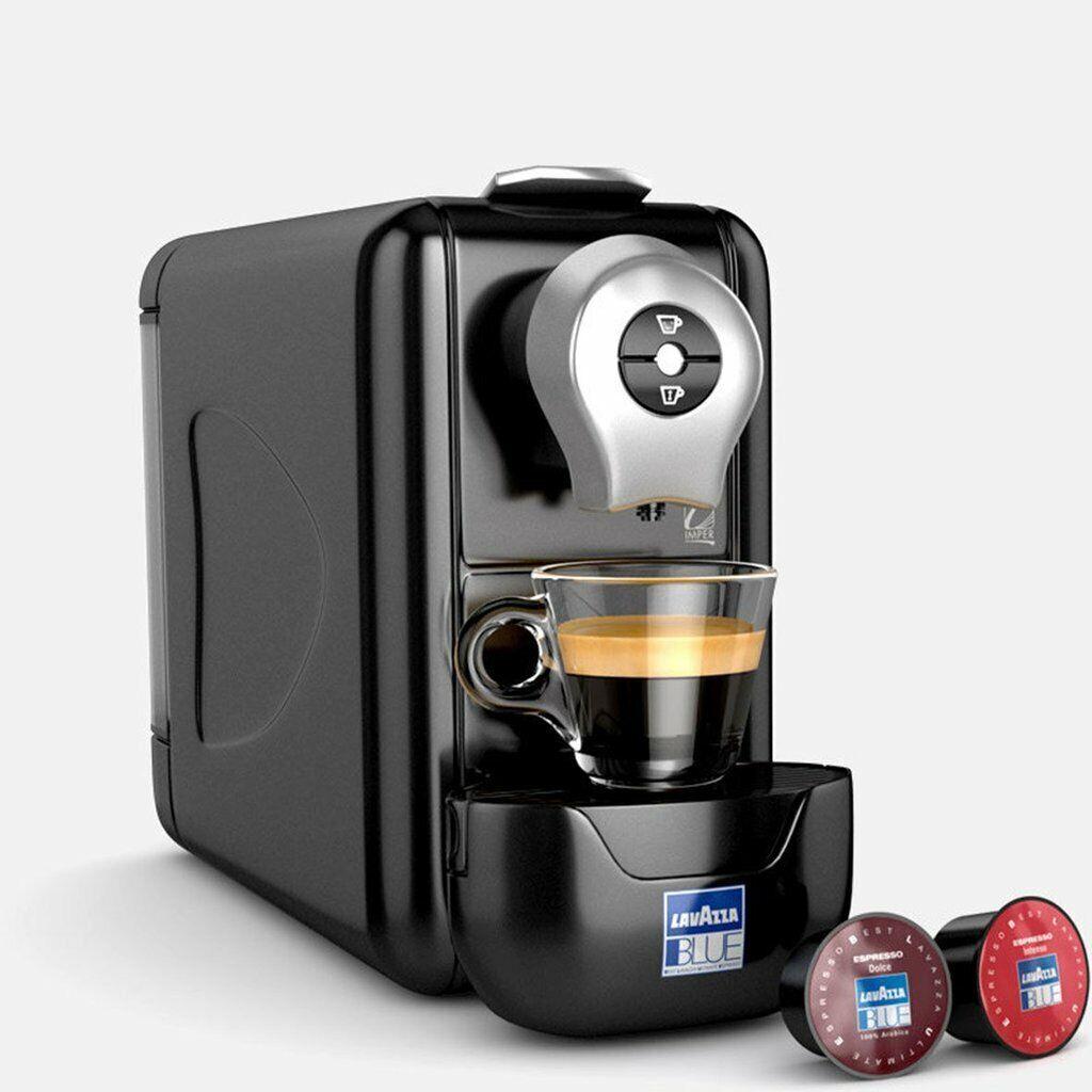 brand new blue single serve espresso machine