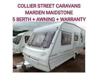Abbey county Stafford 5 berth caravan + full awning