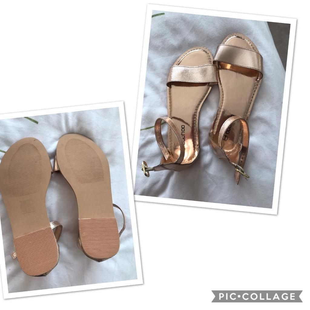 select for authentic elegant and graceful search for genuine Gold boohoo wide fit sandals | in Benfleet, Essex | Gumtree
