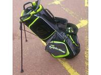 Taylormade Golf Carry bag with Rain cover (lime green)