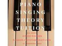 Piano / Singing / Theory Tuition
