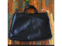 Men's Black Leather Business Folio