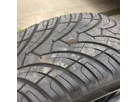 """20"""" alloy wheels,wolfs head centres,very good cond,come off a Toyota hilux."""