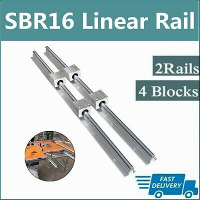 2x Sbr16 300mm2000mm Linear Silde Rail Guide Shaft4x Sbr16uu Bearing Block Set
