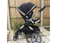iCandy Peach Black Jack pushchair travel system inc carrycot, Maxi Cosy Peeble car seat & adaptors