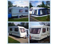 Elddis Avante 524 - 4 Berth Touring Caravan with Motor Mover, New Awning & Annexe