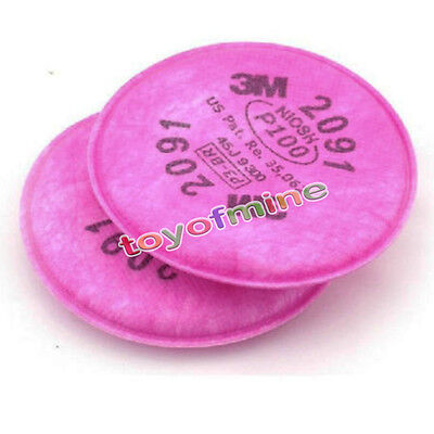 10cs5 Packs 3m 2091 Particulate Filter P100 For 6000 7000 Series Respirator Us