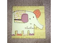 Mamas & Papas Jamboree elephant wall canvas