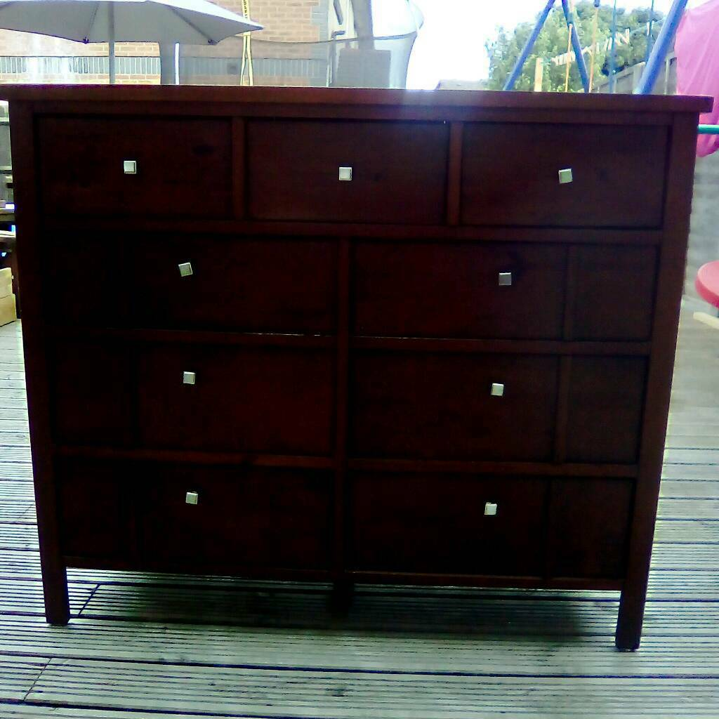 Chest of drawers for salein Southampton, HampshireGumtree - Chest of drawers for sale, solid and sturdy. Originally from IKEAMeasures 96.5cms high, 112cms wide and 40cms deep.Matching wardrobe also available.Delivery possible for an extra charge