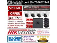 Hikvision 4 Cameras HiWatch Turbo-HD Full CCTV Kit *SPECIAL OFFER* Limited Time While Stock Lasts