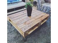 Rustic handmade pallet coffee table