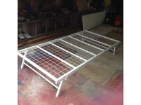 Single bed base,folds flat for underbed storage