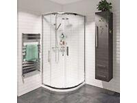 MUST GO TODAY! Victoria Plum Mode premium quadrant shower enclosure for 800mm tray