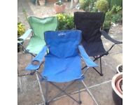 Three Folding Garden Chairs