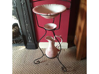 Victorian style Wash Stand complete with Jug, bowl and Soap dish