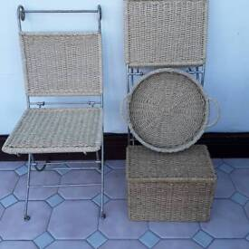 Space saver folding chair (6) left