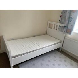 Two IKEA single beds with IKEA mattress