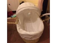 Winnie the Pooh moses basket and stand.