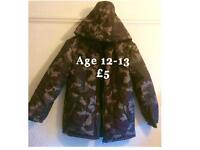 Camouflage Padded Kids Coat