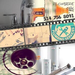 Plombier disponible 514 756 8091(CMMTQ RBQ)