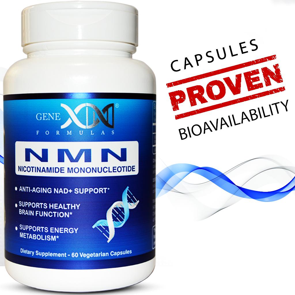 Genex NMN 250mg Serving - Nicotinamide Mononucleotide Direct NAD+ Supplement