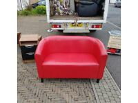 2 seater sofa in red leather £70
